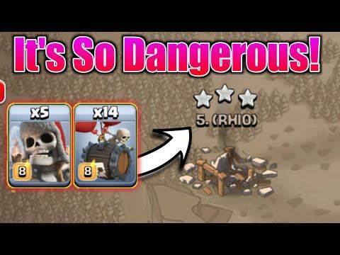 Giant Skeleton + Skeleton Barrel = Nightmare Of Enemy😵   So OP Army In Clash Of Clans