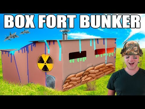 100% INDESTRUCTIBLE BOX FORT BUNKER!! 📦💥