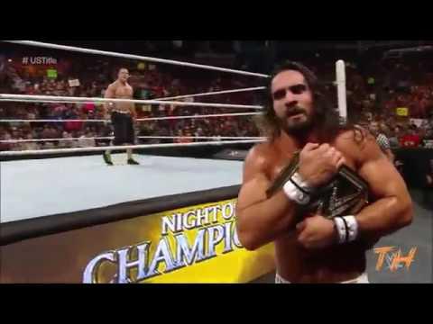 Seth Rollins vs John Cena & Sting Highlights HD Night Of Champions 2016
