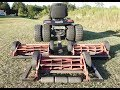 Dually Dually Pulling a Reel Mower