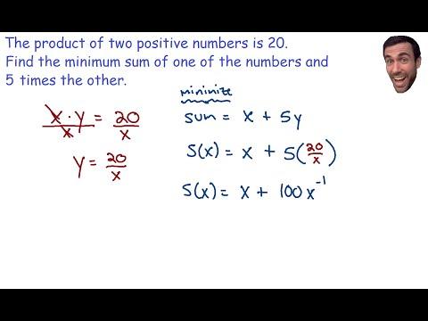Optimization - Minimum sum of two numbers