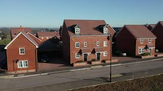 The new Berewood Green, a housing development, Barratt Homes