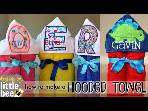 How To Make A Hooded Towel Youtube