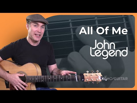 How to play All Of Me by John Legend Easy Beginner Song Guitar Lesson Tutorial (ST-388)