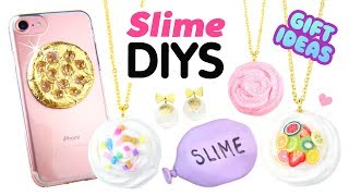 EASY 5-MINUTE DIYS Inspired by Viral Slimes!! DIY Slime Phone Case, Squishies & Xmas Gift Ideas!