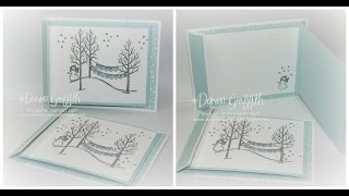 White Christmas Fun Fold Card With Dawn