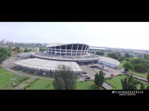 DRONE SHOT OF LAGOS AERIAL VIEW....LAGOS FROM ABOVE