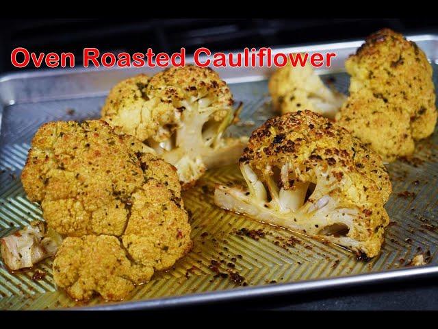 Oven Roasted Cauliflower #MeatFreeMonday | CaribbeanPot.com