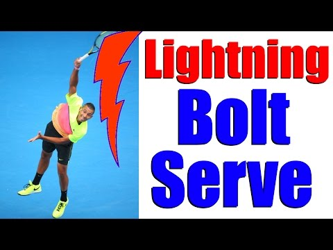How To Serve Faster In Tennis - Lightning Bolt Serve Lesson
