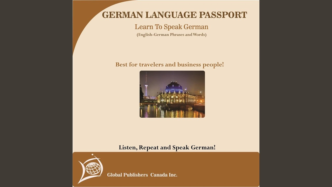 Basic Greetings In German Every Day Phrases And Civilities Youtube