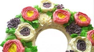 Весенний торт с цветами из масляного крема| Buttercream flowers spring  cake tutorial(Можно заказать торт или капкейки у меня, если Вы находитесь в Москве или МО: https://vk.com/club121994577 Рецепт крема..., 2016-05-10T19:07:46.000Z)