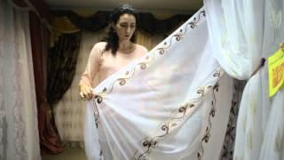 Купить тюль батист(Батист полупрозрачный, белый с коричневым вертикальным узором. Больше тюлей на сайте - http://salon-gardin.com.ua/, 2015-10-27T09:49:58.000Z)