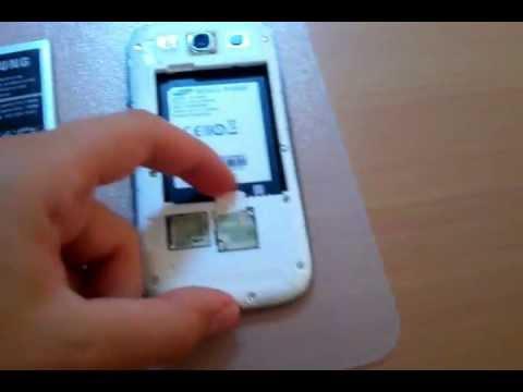 S3 Sim Karte.Samsung Galaxy S3 Sim Karte Akku Speicherkarte Einsetzen Und Flip Cover Installieren Deutsch
