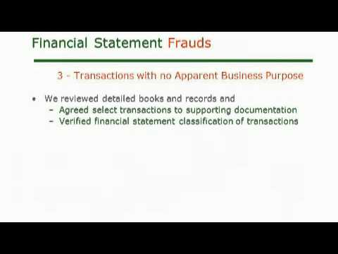Financial Investigations - Financial Statement Fraud
