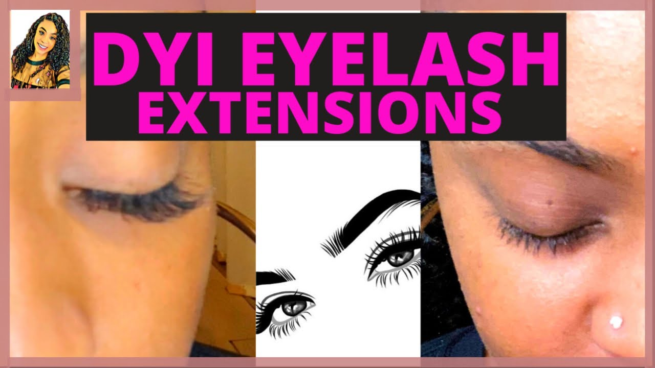 HOW TO DO YOUR OWN EYELASH EXTENSIONS AT HOME!!! - YouTube
