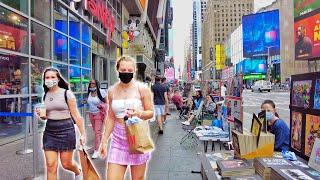 ⁴ᴷ⁶⁰ Walking Times Square Midtown Manhattan New York City 2021 (May 22, 2021)