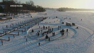 Ice Rink Carousel Created On Lake Minnetonka