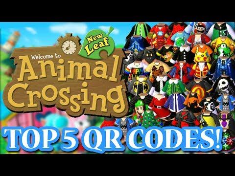 ANIMAL CROSSING NEW LEAF: MY TOP FIVE FAVORITE QR CODES!