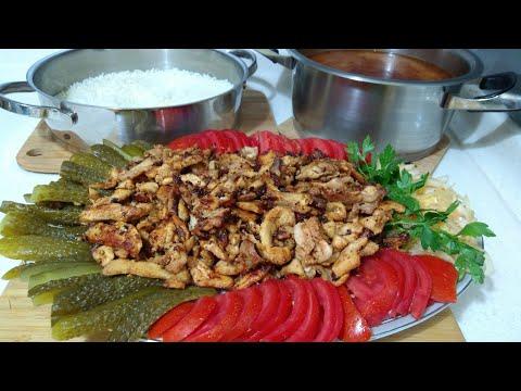 Tavuk Döner İle Hafta Sonuna Yakışır Bir Menü👌Ezo Gelin Çorbası/Pirinç Pilavı | Seval Mutfakta