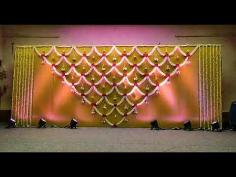 Fresh flower stage decoration idea .for #weeding #mehendi