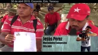 #ReporteEnLaCalle Campesinxs de Cocorote, Yaracuy denuncian desalojo ilegal
