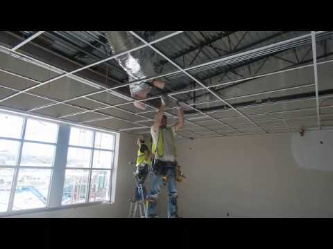 Ceiling Grid Installation Youtube