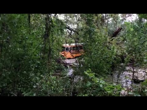 Raw video: Leander ISD school bus swept away