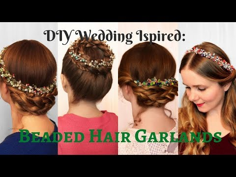 DIY Wedding Inspired Accessories: Beaded Hair Garlands for Christmas