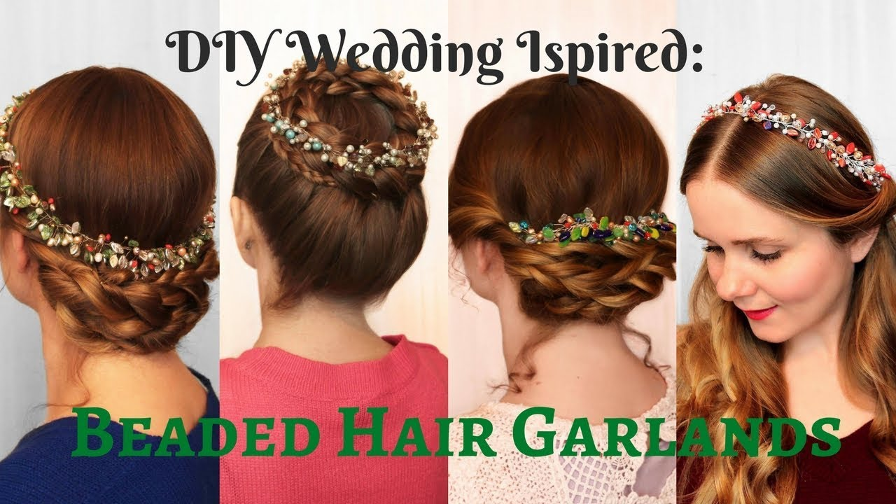 DIY Wedding Inspired Accessories: Beaded Hair Garlands for ...