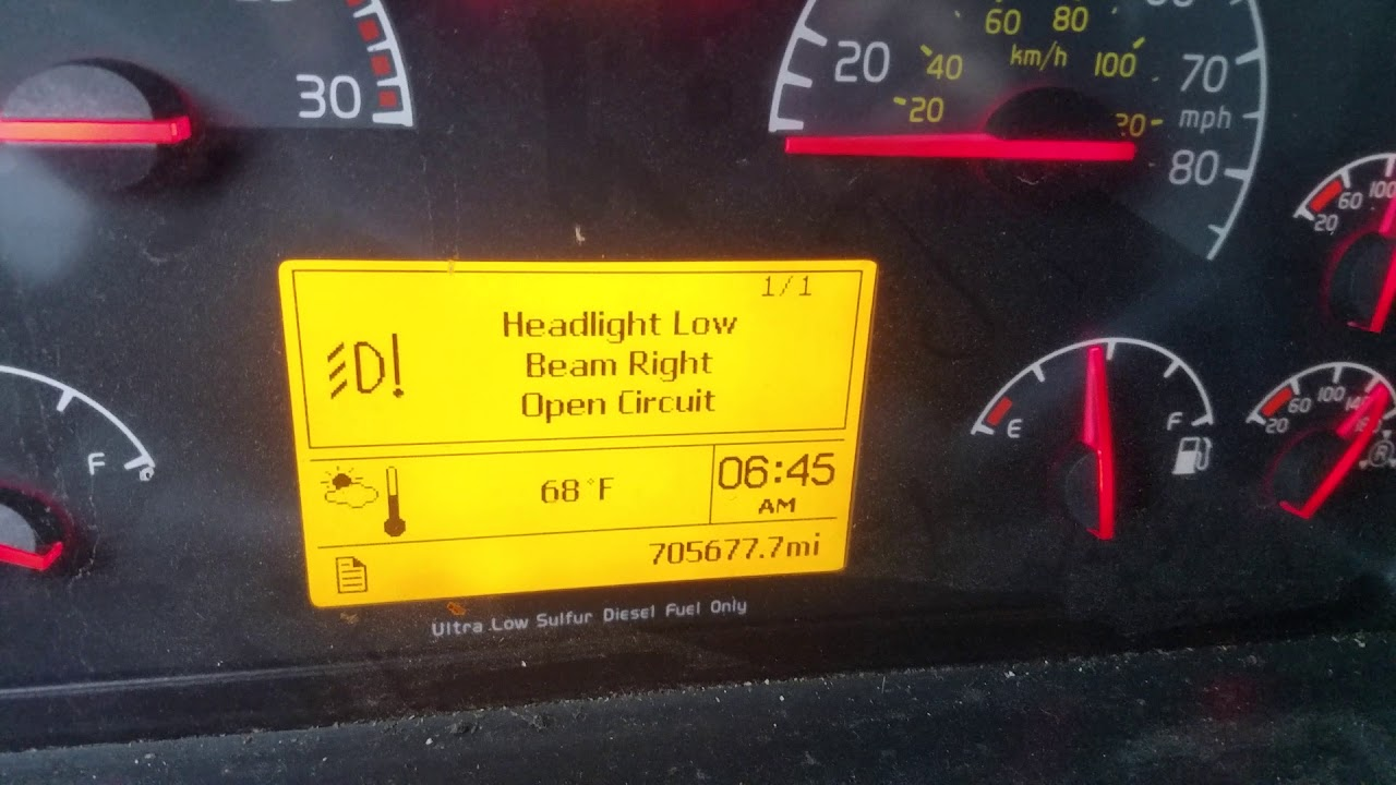 hight resolution of volvo vnl headlight open circuit fixed