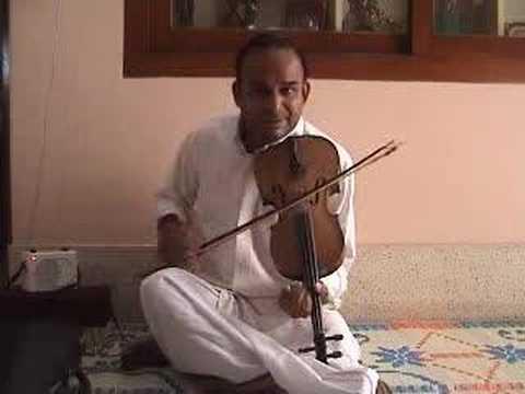 TKV Carnatic classical Violin swara basics - mayamalavagowla