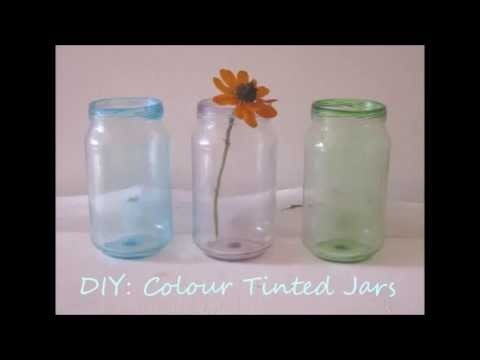 Diy How To Colour Tint Glass Jars Youtube