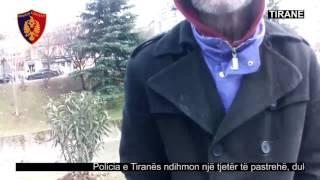 Policia e Tiranës ndihmon një tjetër të pastrehë