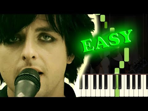 GREEN DAY  21 GUNS  Easy Piano Tutorial