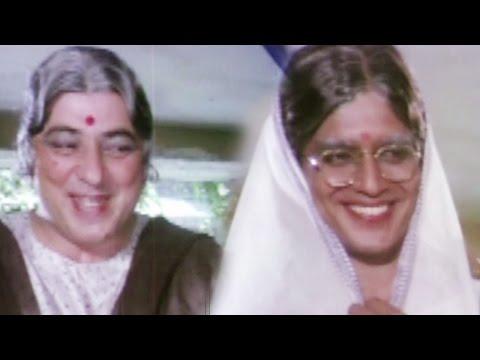 Mithun Chakraborty & Amjad Khan disguise as a lady - Hum Se Hai Zamana, Comedy Scene 6