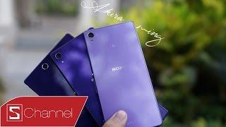 Schannel - Trên tay Sony Xperia Z3 tím Lavender đầy mộng mơ