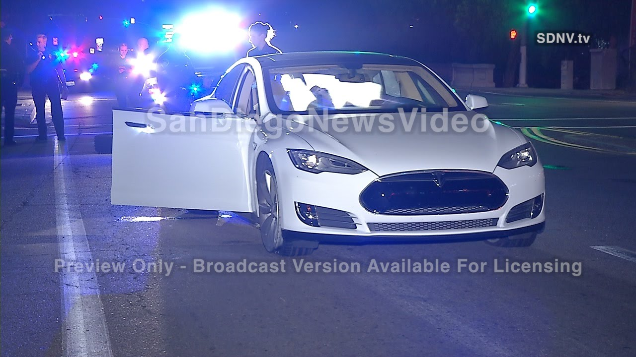 Police Find Stolen Tesla Model S. By Iphone App, San Diego CA. Cool Car.