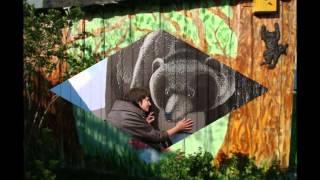 видео Забавные рисунки на заборе