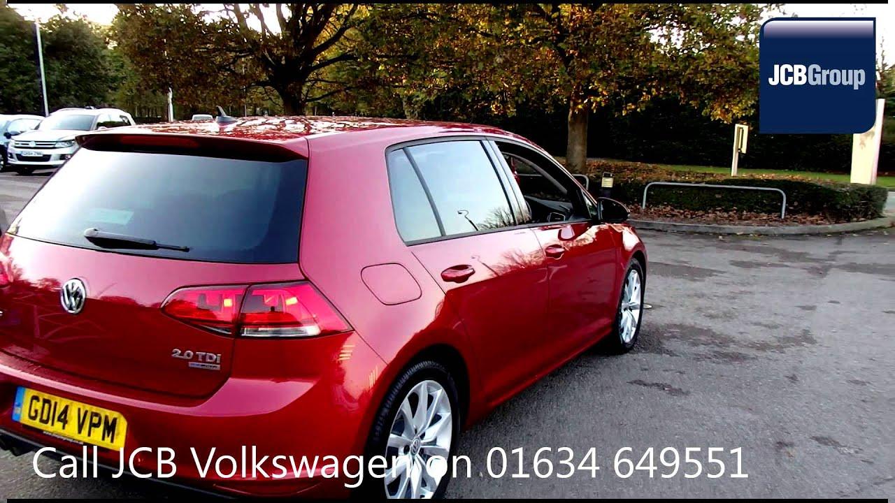 2014 Volkswagen Golf GT 2l Sunset Red Metallic GD14VPM for sale at JCB VW Medway - YouTube