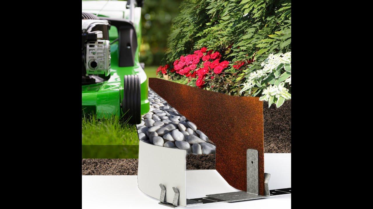 Kits pour realisation rivi re min rale bordure jardin sec for Bordure jardin acier corten