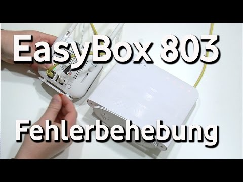 Easybox 803 Auf Werkseinstellung Zurücksetzen