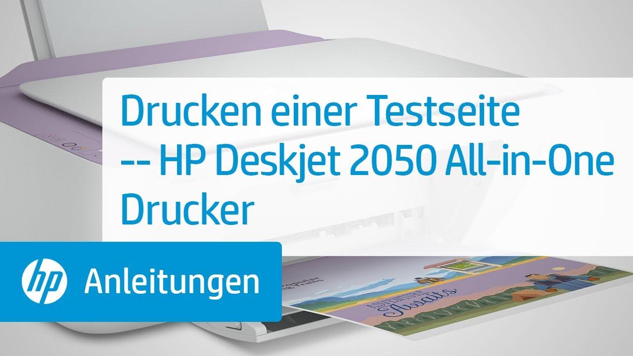 Drucken Einer Testseite Hp Deskjet 2050 All In One