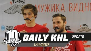 Daily KHL Update - November 1st, 2017 (English)