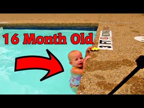 Amazing Baby and Cool Swimming Pool Tricks