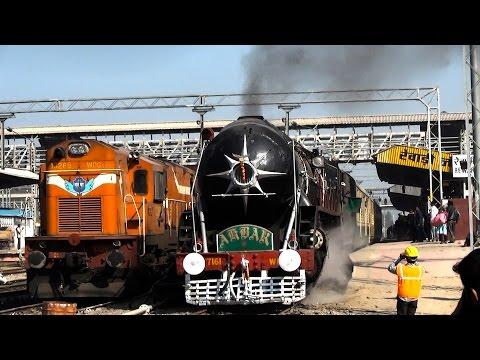 150UP Steam Express Departing Rewari Junction!!!!!