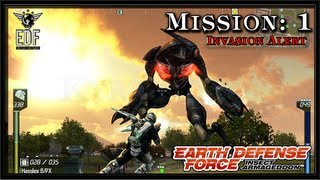 Earth Defense Force: Insect Armageddon PC Gameplay - Mission 1 - Invasion Alert