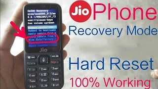 JioPhone Recovery Mode | Hard Data Factory Reset While Password |Crack PIN Lock Forgotten | In Hindi