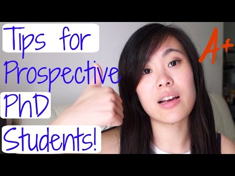 Tips for Prospective PhD Students!