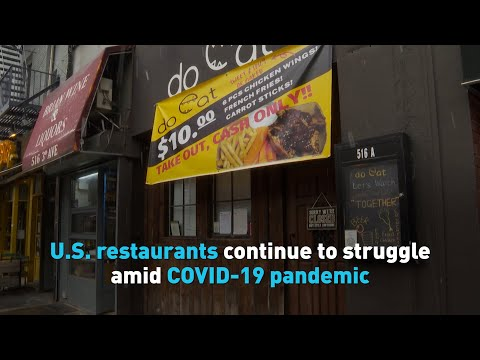 U.S. restaurants continue to struggle amid COVID-19 pandemic