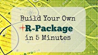 Erstellen Sie ein R-Paket in 5 Minuten (von vorne) mit RStudio 3.3.1+